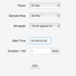 El-Tee-See: Make SMPTE timecode wav file Thumbnail