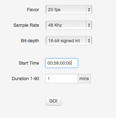 Pehr Hovey — El-Tee-See: Make SMPTE timecode wav file